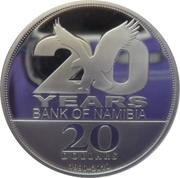 20 Dollars (The Bank of Namibia) – reverse