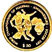 50 Dollars (World Championship of Football 2010 - Johannesburg - Soccer City) – reverse