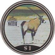 1 Dollar (Miss Universe Namibia) – reverse