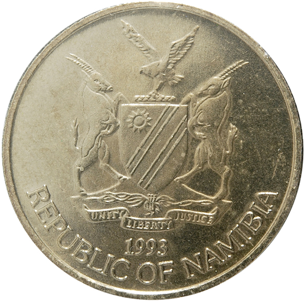 10 CENTS /& 1 DOLLAR BOTH DATING 2002 2 DIFFERENT COINS from NAMIBIA
