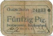 50 Pfennig (South West Africa; Swakopmunder Buchhandlung) – obverse
