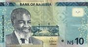 10 Namibia Dollars – obverse