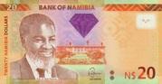 20 Namibia Dollars – obverse