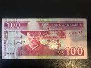 100 Namibia Dollars – obverse