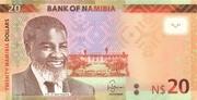 20 Namibian Dollars – obverse