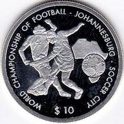 10 Dollars (World Championship of Football - Johannesburg - Soccer City) – reverse