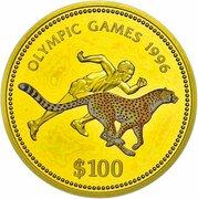 100 Dollars (Namibia Olympics 1996) – reverse