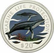 20 Dollars (Marine Life Protection) – reverse