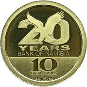 10 Dollars (The Bank of Namibia) – reverse