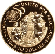 10 Dollars (United Nations; silver issue) – reverse