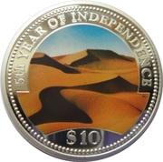 10 Dollars (Independence) – reverse