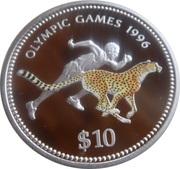 10 Dollars (Namibia Olympics 1996) – reverse