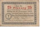 25 Pfennig (Kaufmännischer Verein) – obverse