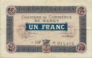 1 Franc (Chambre de Commerce de Nancy) – obverse