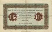 1 Franc (Chambre de Commerce de Nancy) – reverse