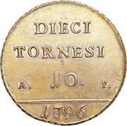10 Tornesi - Ferdinando IV (Pattern) – reverse