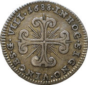 8 Grana - Carlo II – reverse