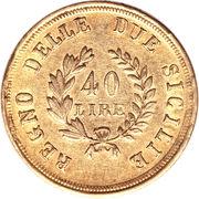 40 Lire - Joachim Murat – reverse