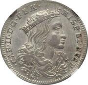 1 Tari - Carlos II -  obverse