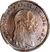 6 Tornesi - Ferdinando IV – obverse