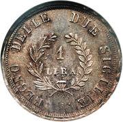 1 Lira - Joachim Murat – reverse