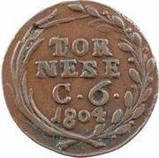 1 Tornese - Ferdinando IV – reverse