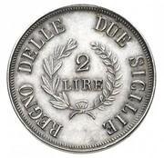 2 Lire - Joachim Murat (Silver pattern) – reverse