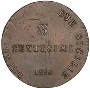 3 Centesimi - Joachim Murat – reverse