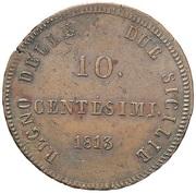 10 Centesimi - Joachim Murat – reverse