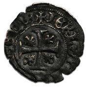 1 Denaro Joanna I Anjou – reverse