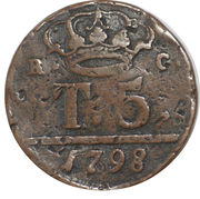 5 Tornesi - Ferdinando IV – reverse