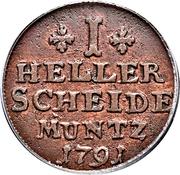 1 Heller - Wilhelm V – reverse