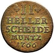 2 Heller - Wilhelm V – reverse