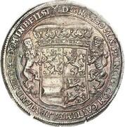 1 Thaler - Johann Franz, Heinrich, Wilhelm Moritz, Heinrich Casimir and Franz Alexander  (Badehosentaler) – reverse