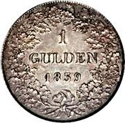 1 Gulden - Wilhelm – reverse