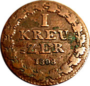 1 Kreuzer - Friedrich Wilhelm – reverse