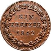 1 Kreuzer - Friedrich August – reverse
