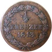 ½ Kreuzer - Friedrich Wilhelm – reverse