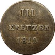 3 Kreuzer - Friedrich August & Friedrich Wilhelm – reverse