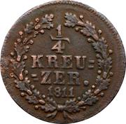 ¼ Kreuzer - Friedrich Wilhelm / Friedrich August – reverse