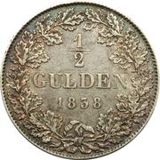 ½ Gulden - Wilhelm – reverse