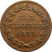 1 Kreuzer - Wilhelm – reverse