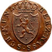 ¼ Kreuzer - Wilhelm I – obverse