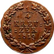 ¼ Kreuzer - Wilhelm I – reverse