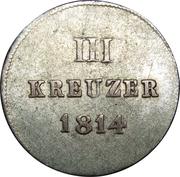 3 Kreuzer - Friedrich August – reverse