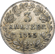 3 Kreuzer - Adolph I – reverse