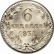 6 Kreuzer - Wilhelm – reverse