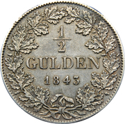 ½ Gulden - Adolph I – reverse