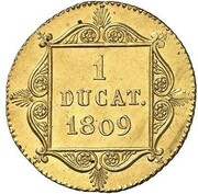 1 Ducat - Friedrich August zu Usingen & Friedrich Wilhelm zu Weilburg – reverse