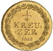 ¼ Kreuzer - Friedrich Wilhelm & Friedrich August (Gold Pattern) – reverse